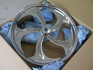 "26"" inch Chrome Wheel Tire Street Road Glide King Roxy Front Harley 26 Bagger"