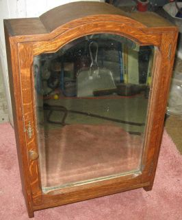 Antique Mission Oak Medicine Cabinet Mirror Front Arts Crafts Quartersawn