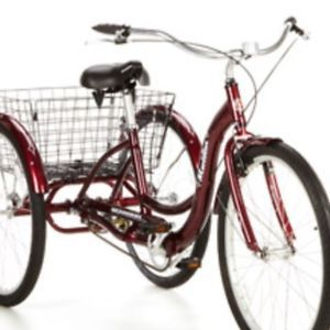 "Schwinn Meridian 26"" Adult Tricycle Trike Dark Cherry Local Pickup Only"