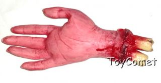 Cut Off Severed Fake Bloody Hand Halloween Prop Fancy Dress