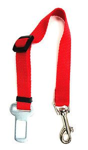 Auto Car Vehicle Safety Seat Belt Lead to Harness for Cat Dog Pet Seatbelt Red