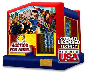 Super Hero Inflatable Bounce House Art Panel Comic 250 Other Panel Options
