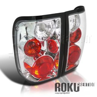 01 03 Ford Ranger Pickup Truck Euro Chrome Tail Lights