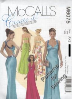 Pattern McCalls Sewing Woman Evening Gown Prom Dress Sz 14 20 New