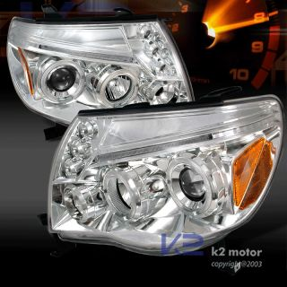 2005 2011 Toyota Tacoma LED Projector Headlights Chrome