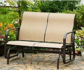 Patio Glider Swing Bench Garden Lawn Yard Outdoor Deck Furniture
