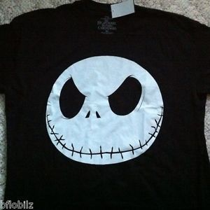 Jack Skellington Disney Nightmare Before Christmas Mens Medium M Black Shirt