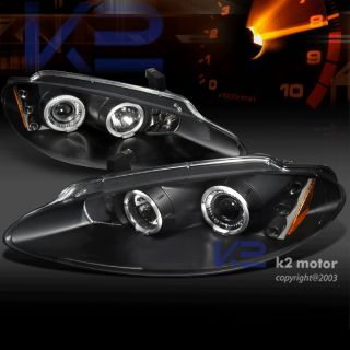 1998 2004 Dodge Intrepid Halo LED Projector Headlights JDM Black
