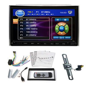 Free Camera 2 DIN Car DVD Player 7'' Touch Screen Radio