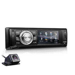 "In Dash Car Stereo DVD Player Single 1 DIN 3"" Touch Screen Bluetooth Rear Camera"