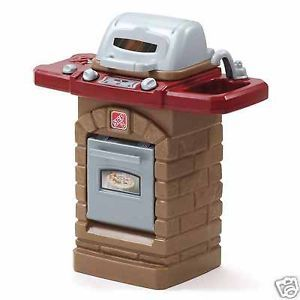Kids Pretend BBQ Grill Realistic Toy Barbecue Plastic Play Cooking Set Outdoor