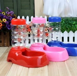 Pet Dog Puppy Cat Kitten Rabbit Automatic Water Dispenser Food Dish Bowl Feeder