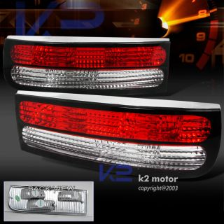 1990 1996 Nissan 300zx Red Clear Rear Tail Lights Pair