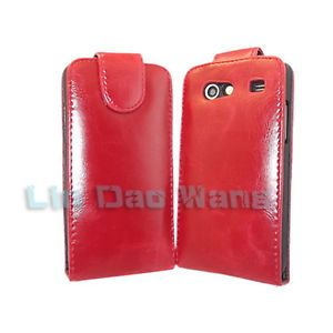 Red Leather Case Cover Pouch Screen Protector for Samsung Galaxy s Advance I9070