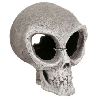 Blue Ribbon Mini Alien Skull Aquarium Decoration