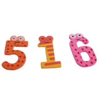 X'mas Set 10 Number Wooden Fridge Magnet Education Learn Cute Kid Baby Toy New