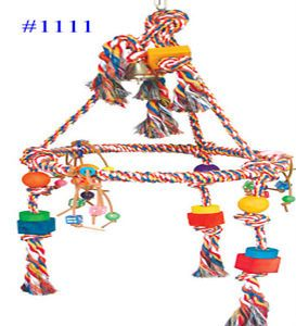 Huge Pyramid Rope Ring Swing Bird Toy Parrot Cage Toys Cages Macaw