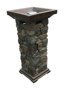 Outdoor Galiano Bond Gas Fire Pit Bowl Column 1lb Includes Lava Rock