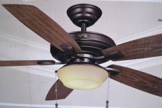 "Hampton Bay 791647 Gazebo II Plus 52""Indoor Outdoor Ceiling Fan Iron Finish 0804"