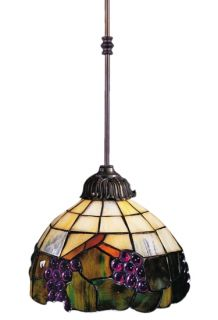 "Grapevine Tiffany Mini Pendant Lighting 8"" w Landmark Lighting 238 VA"