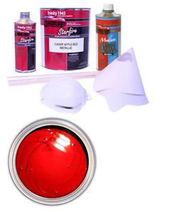Candy Apple Red Metallic Acrylic Enamel Auto Paint Kit