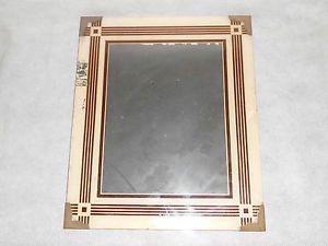 Art Deco Vintage Glass Picture Frame