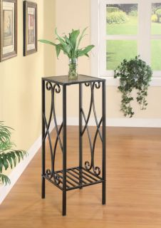 Coaster Black and Gold Metal Plant Stand Accent Table