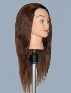 "24"" Cosmetology Mannequin Head Human Hair with Clamp L"