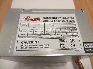 Rosewill 400W ATX Computer Power Supply LC 8400BTX 400 Watts