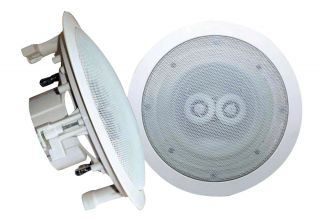 "1 New Pyle PWRC82 400W 8"" 400W 2 Way Indoor Outdoor Waterproof Ceiling Speaker 068888881012"