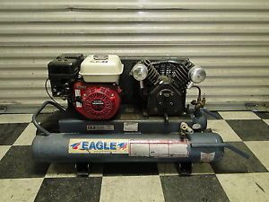Eagle TT55G Twin Tank Portable Air Compressor with 5 5 HP Honda Engine Gas