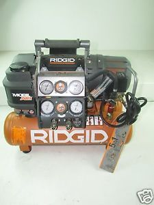 Ridgid Tri Stack 5 Gal Portable Electric Steel Orange Air Compressor
