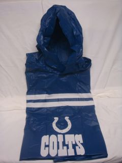Indianapolis Colts Hooded Snap Up NFL Heavy Rain Poncho
