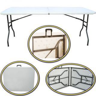 New Heavy Duty 1 8M Folding Table 6 ft Camping Banquet Picnic Party Garden Table