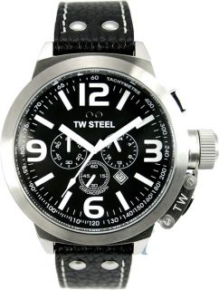TW Steel TW4 Brand New Canteen 50mm Mens Chronograph Watch Black Fast Shipping