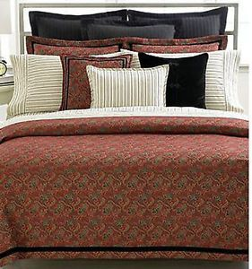 Ralph Lauren Bleecker Street Full Queen Comforter Red Paisley New 1Q