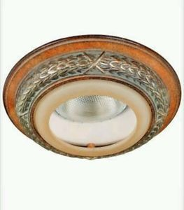 Hampton Bay Antique Pecan Trim for 6 in Recessed Can Light Fixture 29009 New