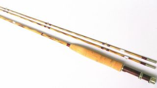 "New Flamed Split Bamboo Fly Rod with Agate Strip Guid 7'0"" 4"
