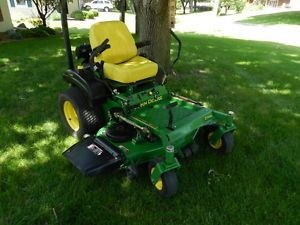 John Deere 717A Zero Turn Riding Lawn Mower Great Condition Commercial Deck