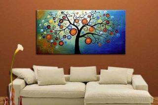Parlor Living Room Modern Abstract Art Oil Painting on Canvas Tree of Life