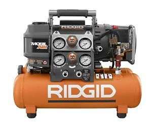 Ridgid OF50150TS Tri Stack 5 Gallon Portable Electric Steel Air Compressor