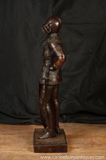 3ft Bronze Knight Statue Sculpture Crusades Templar Art Sculpture