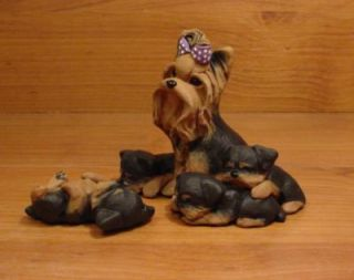 Yorkie Yorkshire Terrier Dog Sculpture Claydogz Mandyo