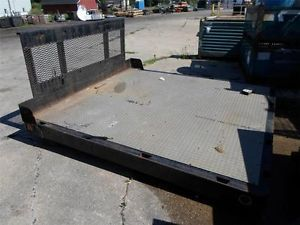 "Omaha Standard Ford Dully Truck 8 Foot Long Flat Bed 88"" w x 90"" L Solid Steel"