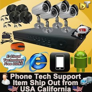 4CH 4 Channel 960H HDMI CCTV Video DVR Security System 700TVL Sony CCD Camera