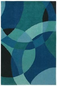 Shaw Rugs Contemporary Abstract Blue Red Green 5x8 8x10 9x13 Area Rug
