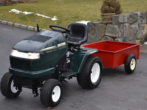 Craftsman Riding Lawn Mower Tractor and  Utility Cart