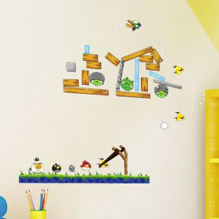 Hmdecor Wall Art Angry Birds Kids Wall Stickers