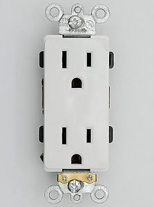 Industrial Grade Heavy Duty Decorator 15A Receptacle 5 15R Outlet M63150 w Plug