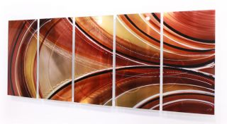 Large Modern Abstract Bronze Copper Painting Metal Wall Art Sculpture
